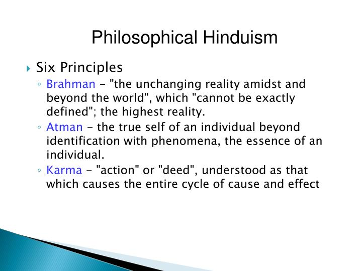 Philosophical Hinduism