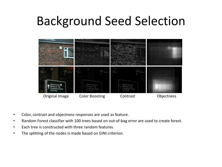 Background Seed Selection
