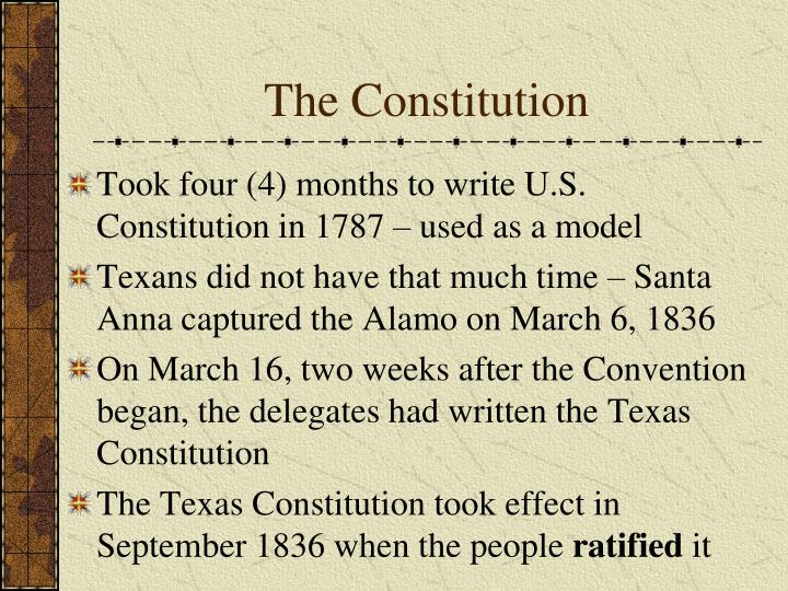was the constitution written to be Start studying chapter 3-the texas constitution learn vocabulary, terms, and more with flashcards, games, and other study tools us constitution written to.