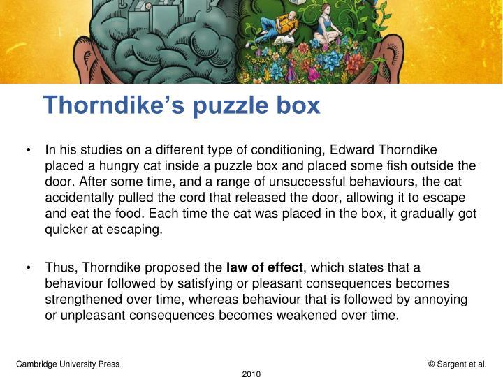 Thorndike's puzzle box
