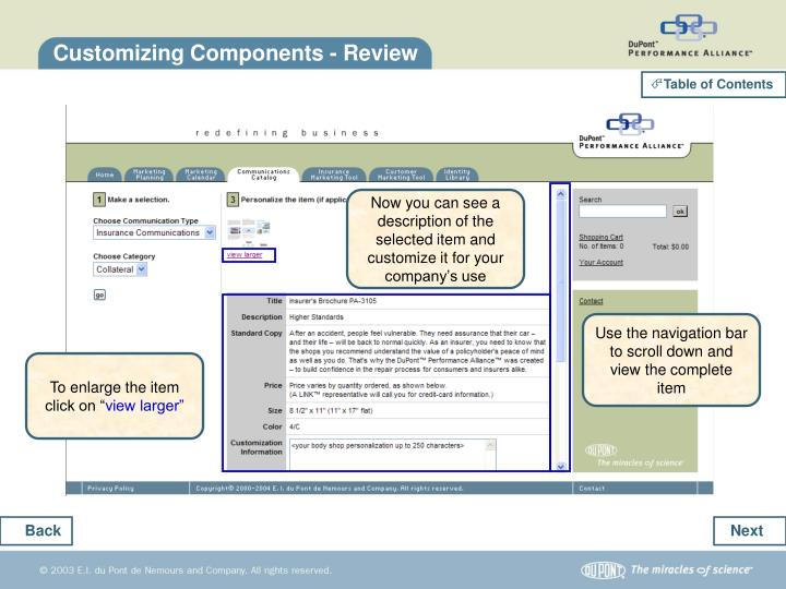 Customizing Components - Review