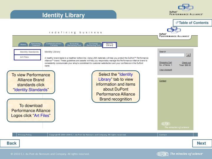 Identity Library