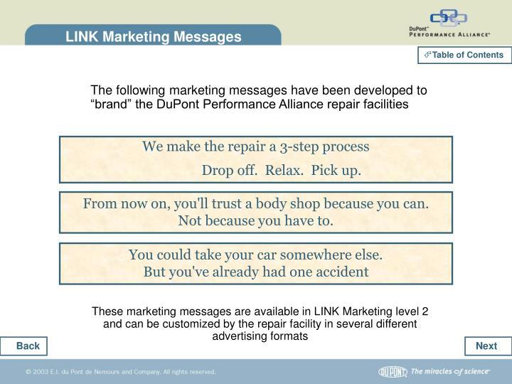 LINK Marketing Messages