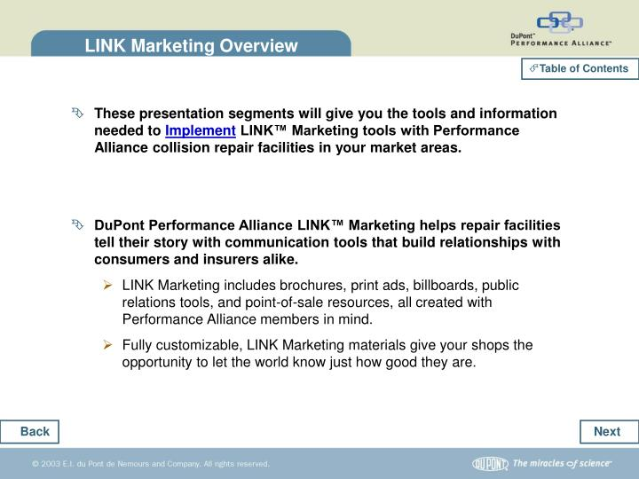 Link marketing overview