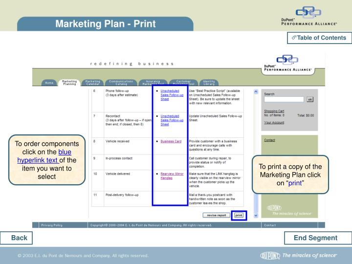 Marketing Plan - Print