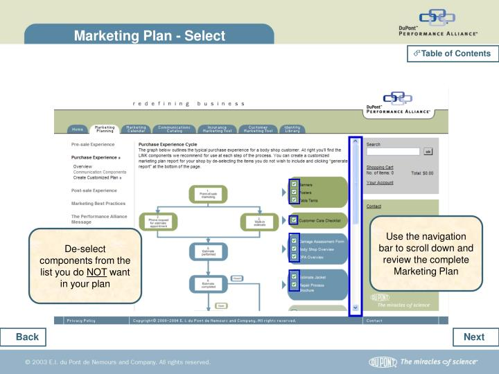 Marketing Plan - Select