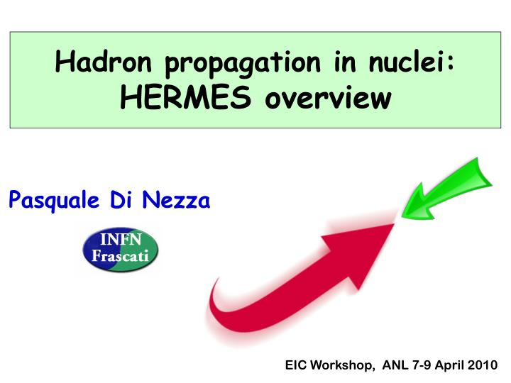 Hadron propagation in nuclei: