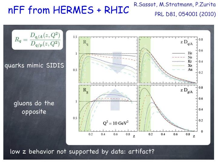 nFF from HERMES + RHIC