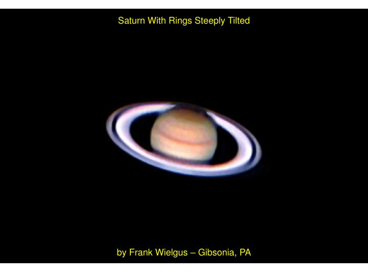 Saturn With Rings Steeply Tilted