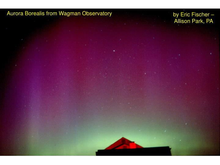 Aurora Borealis from Wagman Observatory