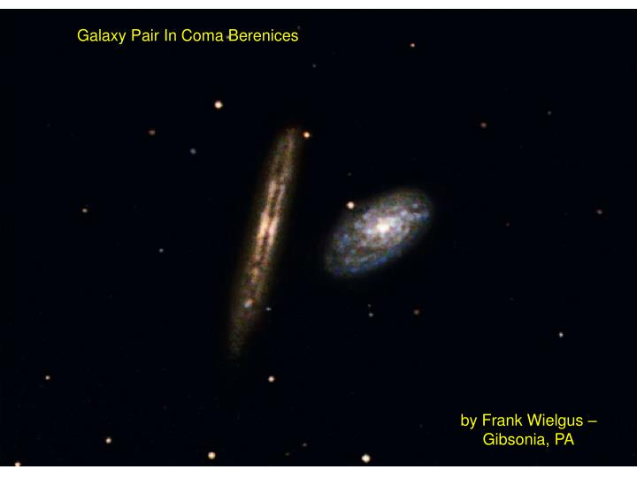 Galaxy Pair In Coma Berenices