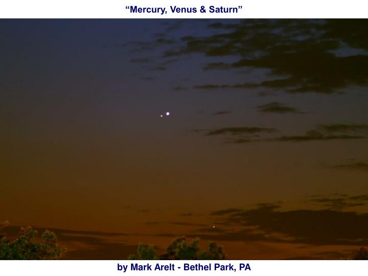 """Mercury, Venus & Saturn"""
