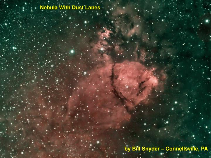 Nebula With Dust Lanes
