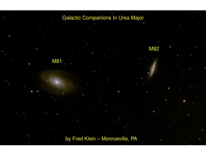 Galactic Companions In Ursa Major