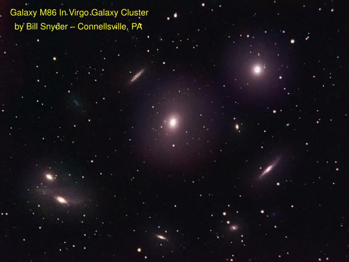 Galaxy M86 In Virgo Galaxy Cluster