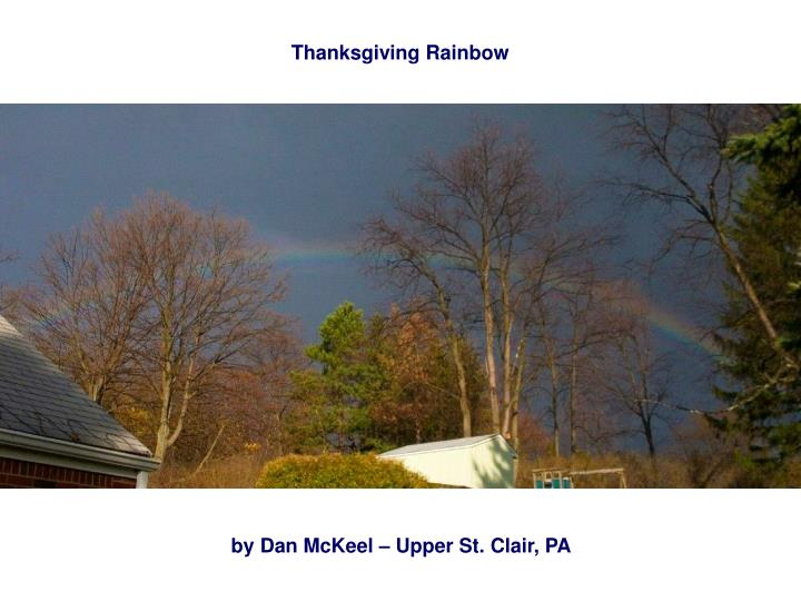 Thanksgiving Rainbow