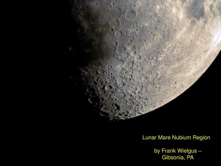Lunar Mare Nubium Region