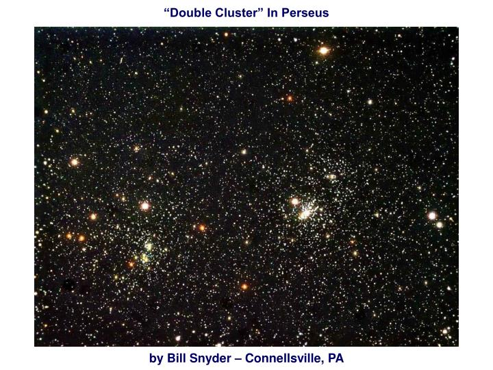 """Double Cluster"" In Perseus"