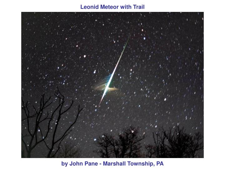 Leonid Meteor with Trail