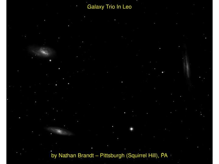 Galaxy Trio In Leo