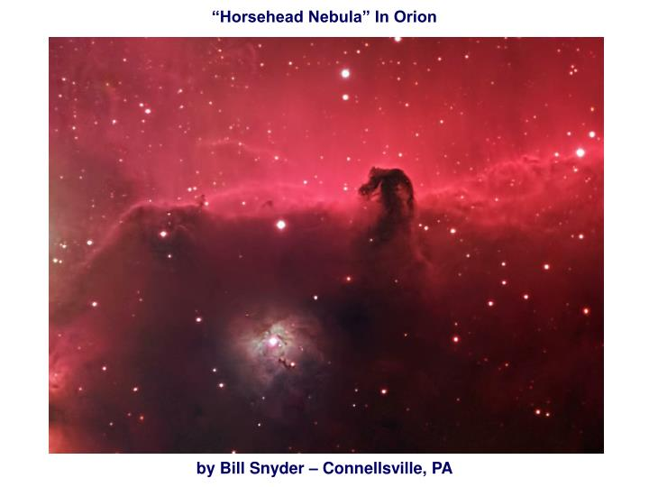 """Horsehead Nebula"" In Orion"