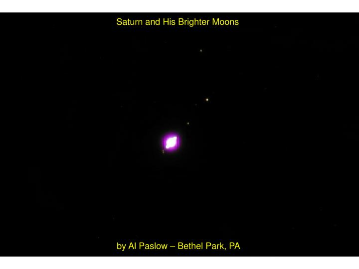 Saturn and His Brighter Moons