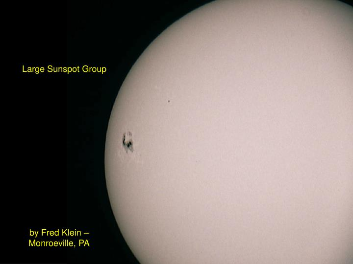 Large Sunspot Group