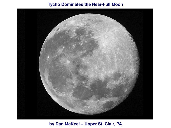 Tycho Dominates the Near-Full Moon
