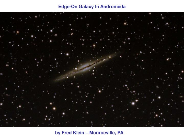 Edge-On Galaxy In Andromeda