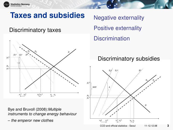 Discriminatory taxes