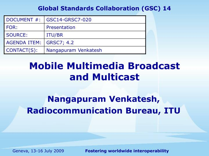 Mobile multimedia broadcast and multicast