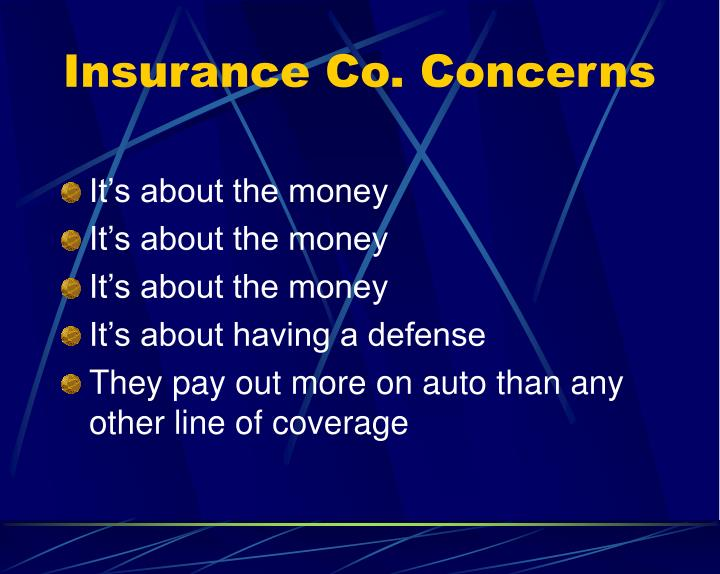 Insurance Co. Concerns