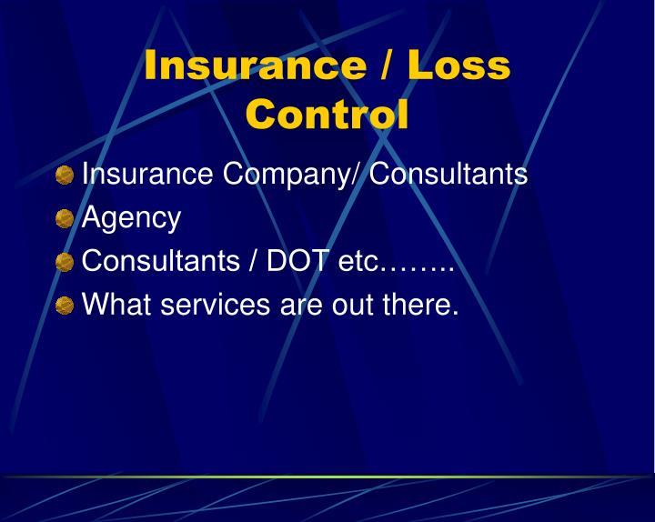 Insurance / Loss Control