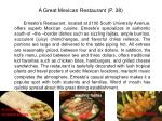 a great mexican restaurant p 38