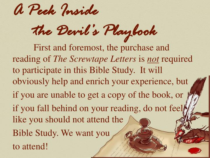 A peek inside the devil s playbook1