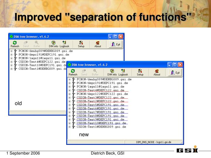 "Improved ""separation of functions"""