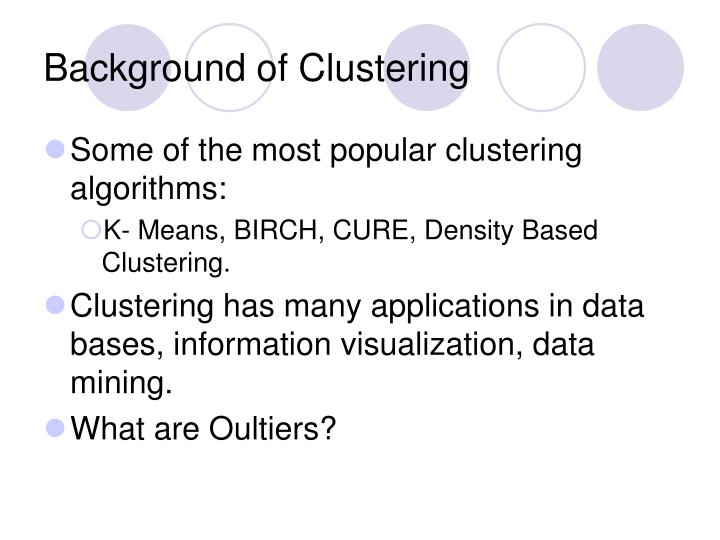 Background of Clustering