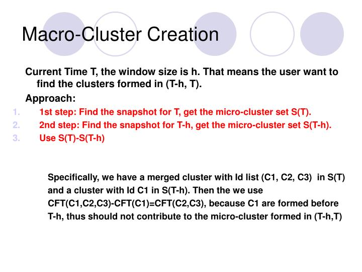 Macro-Cluster Creation