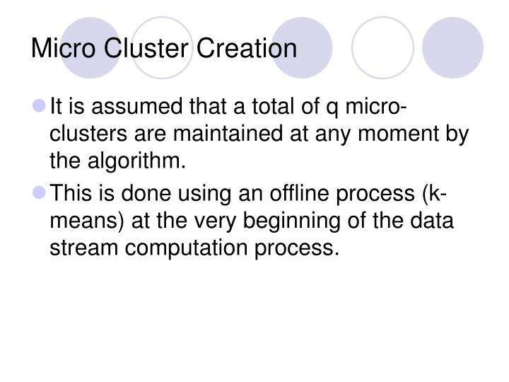 Micro Cluster Creation