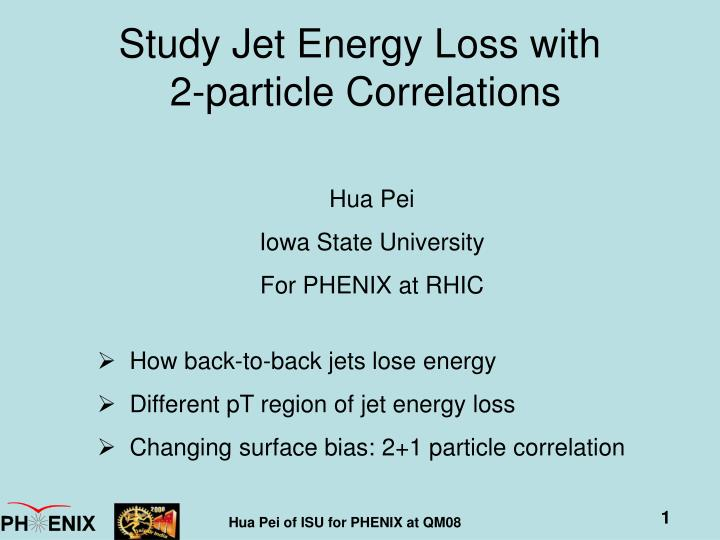 Study jet energy loss with 2 particle correlations