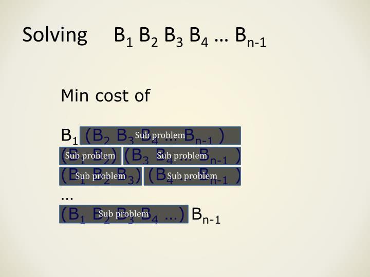 Solving     B