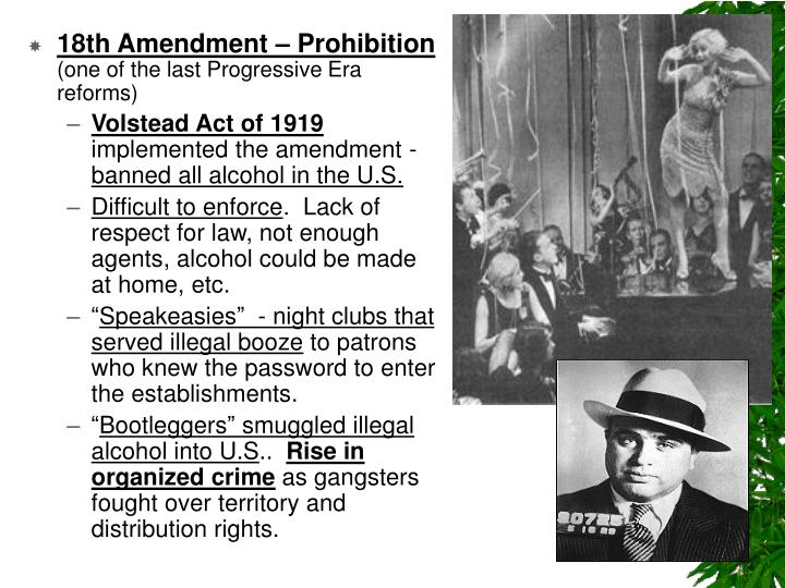 the origins of the idea for the american prohibition and the 18th amendment to the american constitu The 1928 presidental election between hoover and al smith was one of the dirtiest in history the prohibition idea 0:01 and fall of the 18th amendment to.