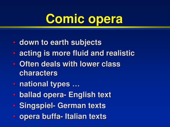 Comic opera