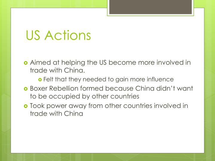 US Actions