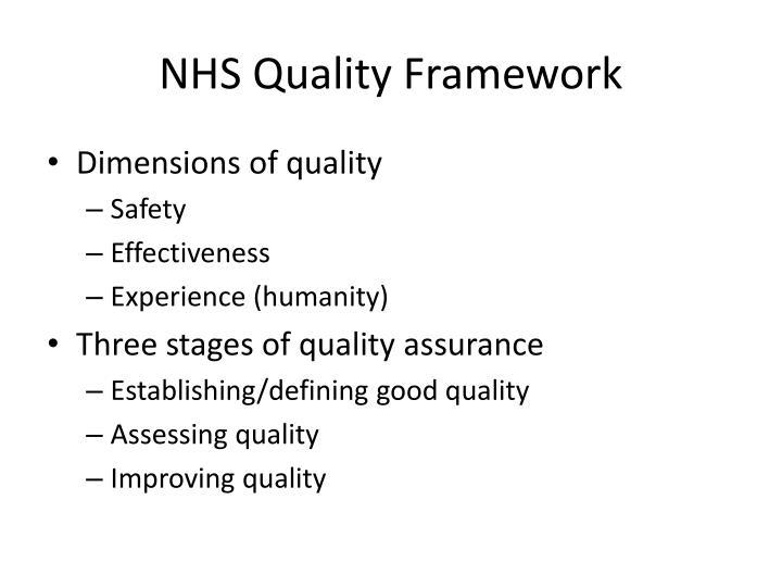 NHS Quality Framework