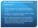 why reading in the mathematics classroom2