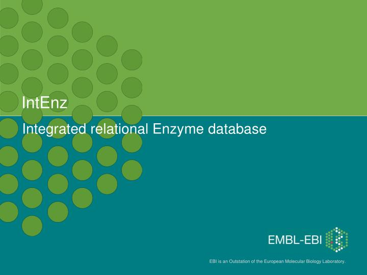 Integrated relational enzyme database