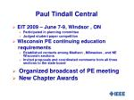 paul tindall central