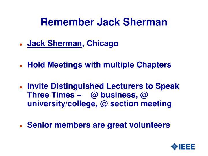 Remember Jack Sherman