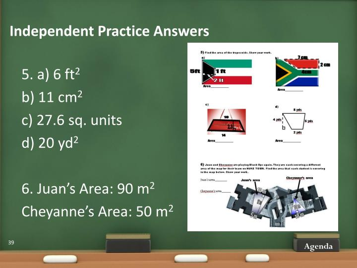 Independent Practice Answers